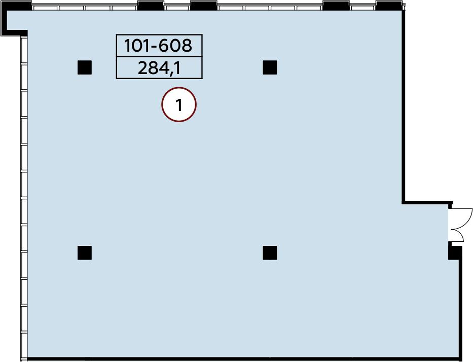 Коммерческое помещение, 284.1 м²– 2