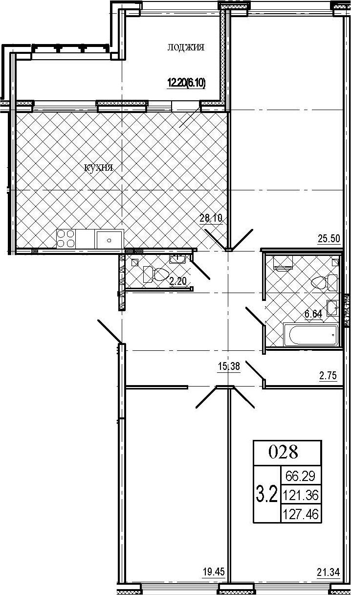 4Е-к.кв, 127.46 м²