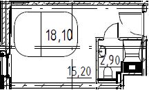 Студия, 18.1 м², от 8 этажа
