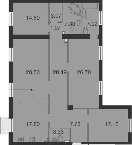 5Е-к.кв, 155.64 м²