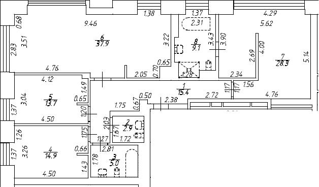 4Е-к.кв, 127.2 м², 7 этаж