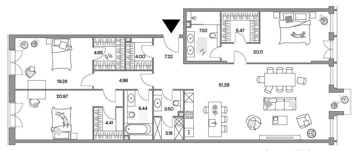 4-к.кв (евро), 161.94 м²