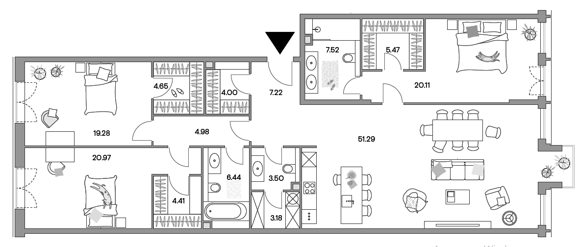 4Е-к.кв, 161.94 м²
