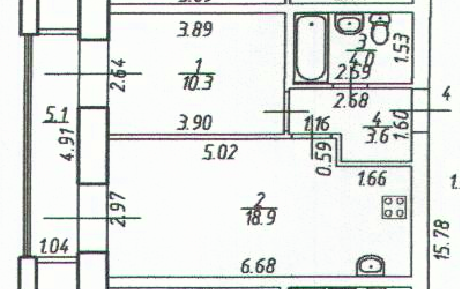 2Е-к.кв, 39.35 м²