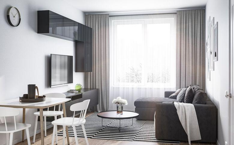 3Е-комнатная квартира, 53.45 м², 12 этаж – 3