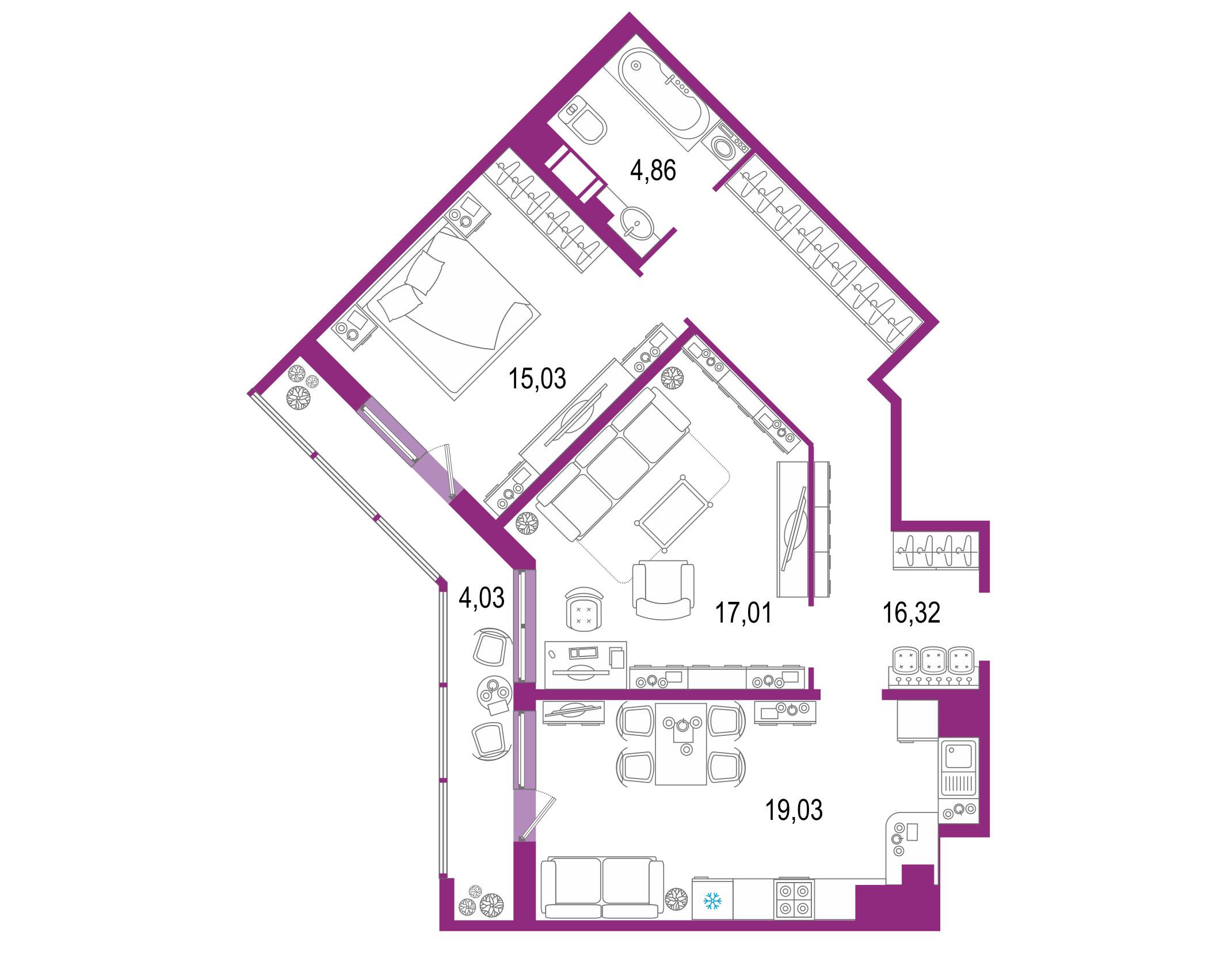 3-к.кв (евро), 80.31 м²
