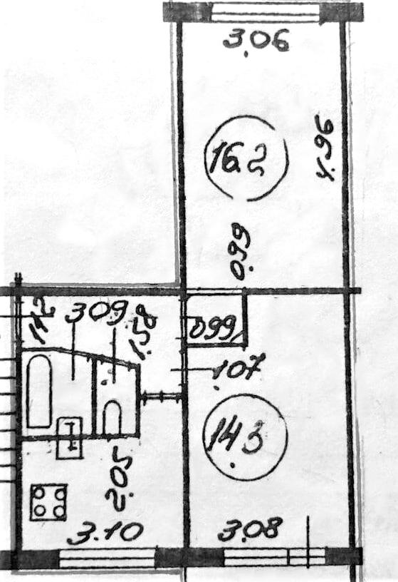 2-к.кв, 44.82 м²