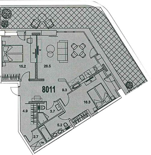 3-к.кв (евро), 96.82 м²