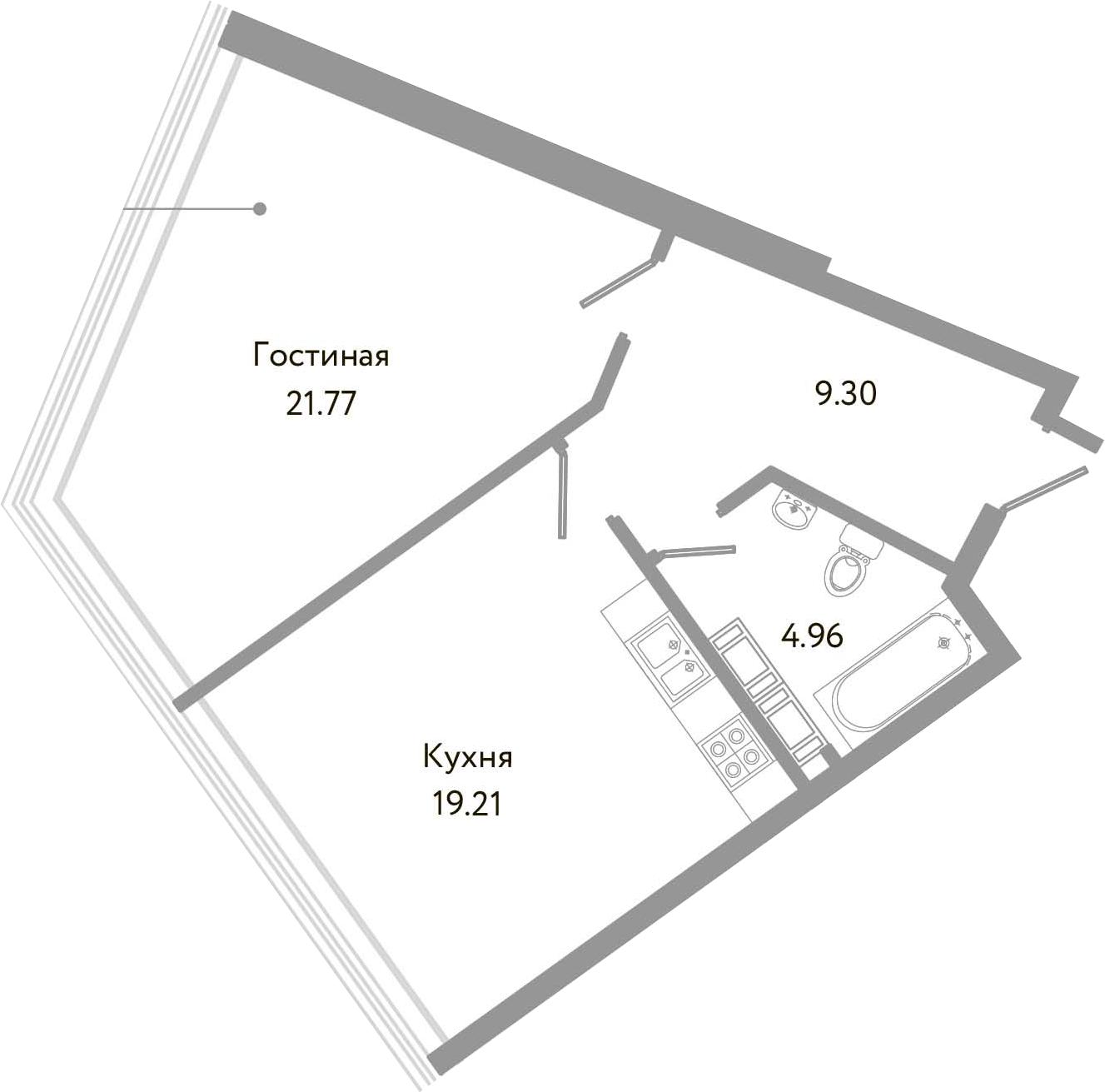 2-к.кв (евро), 55.24 м²