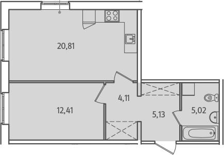 2-к.кв (евро), 47.48 м²