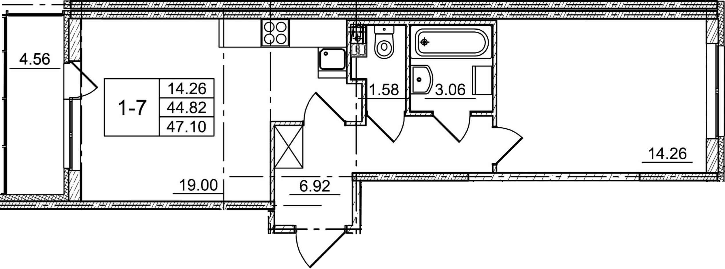 2-к.кв (евро), 49.38 м²