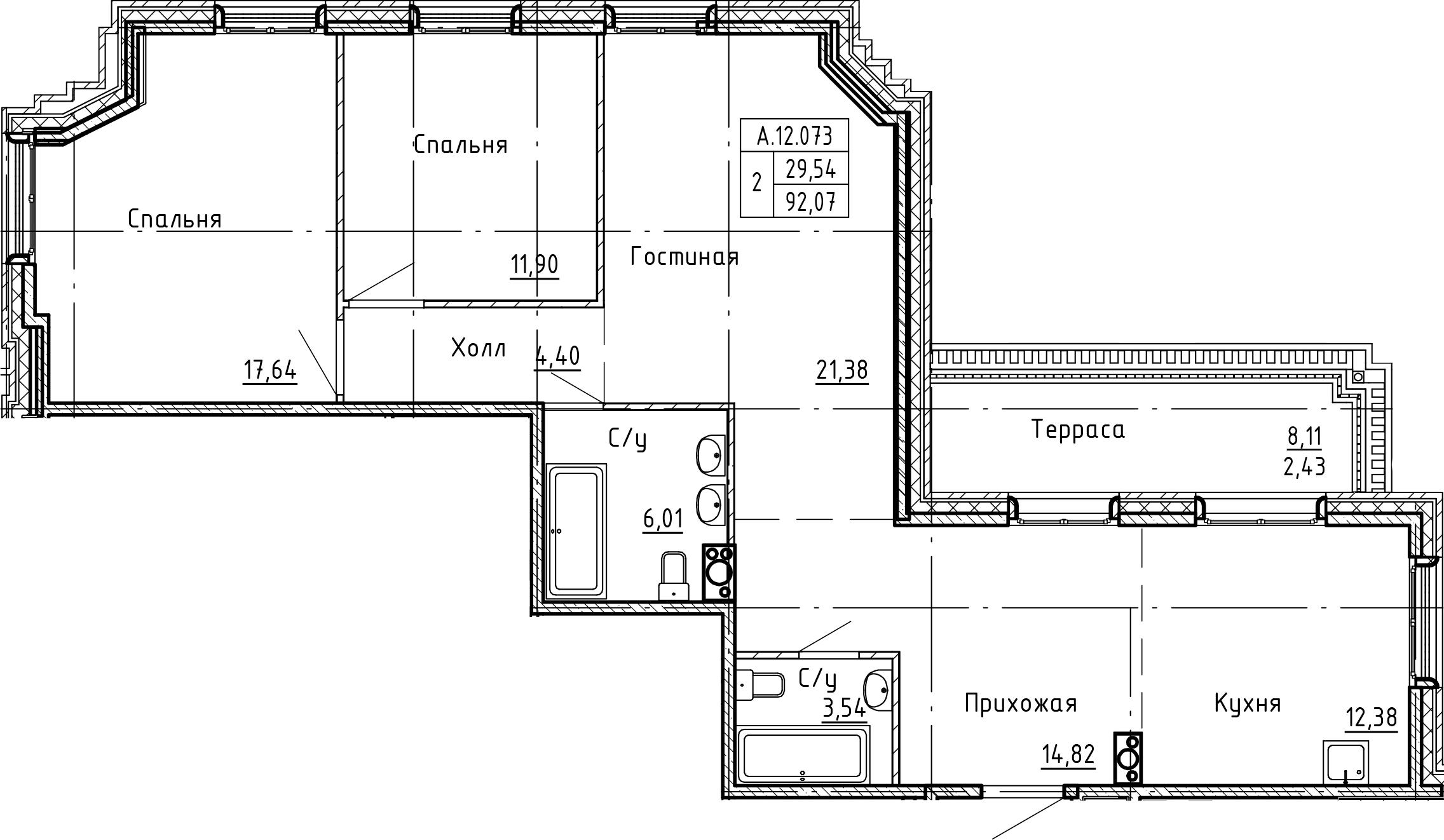 4Е-к.кв, 94.5 м²
