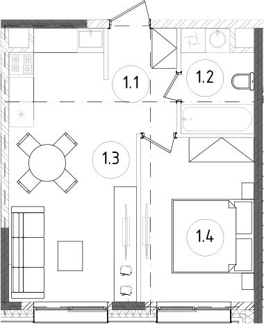 2Е-к.кв, 37.71 м²