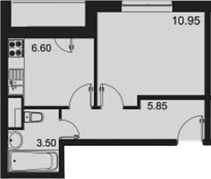 1-к.кв, 29.3 м²
