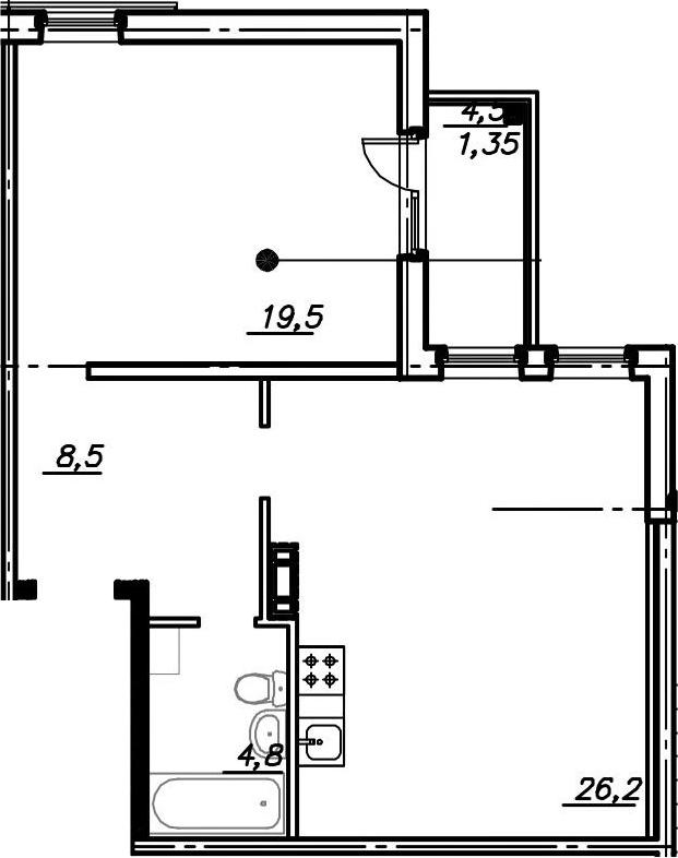 2Е-к.кв, 60.35 м²