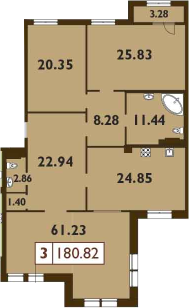 4Е-к.кв, 180.82 м²