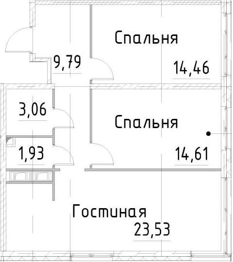 3Е-к.кв, 67.37 м², от 15 этажа