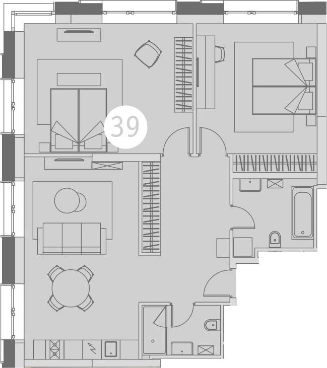 3-к.кв (евро), 86 м²
