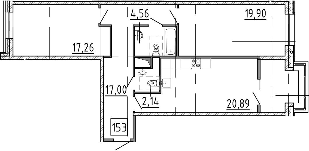 3-к.кв (евро), 88.13 м²
