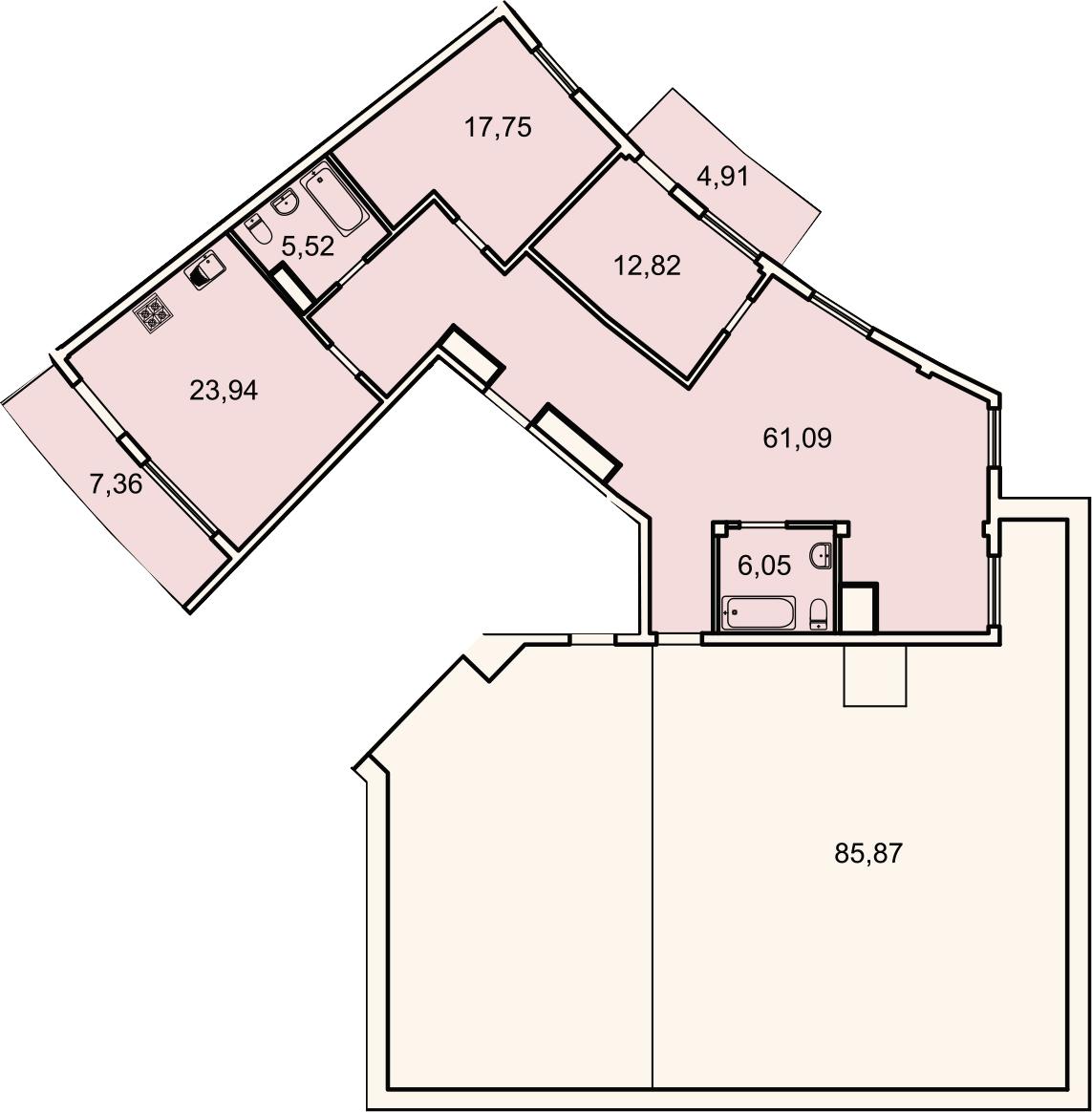 4Е-комнатная, 130.9 м²– 2