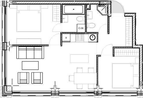 Свободная планировка, 55.35 м²– 2