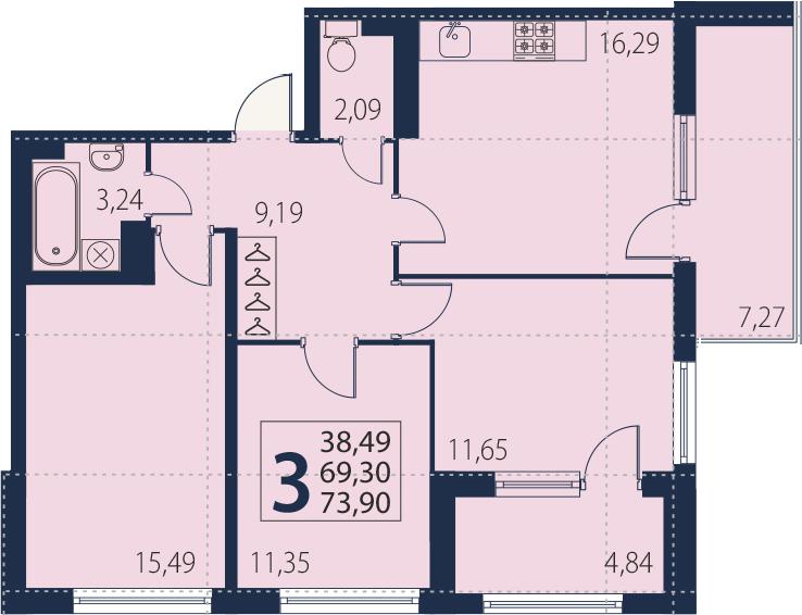 4-к.кв (евро), 81.41 м²