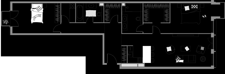 3-к.кв (евро), 110.34 м²