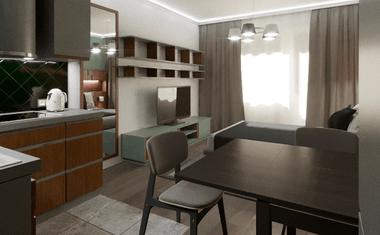 2Е-комнатная, 39.04 м²– 1