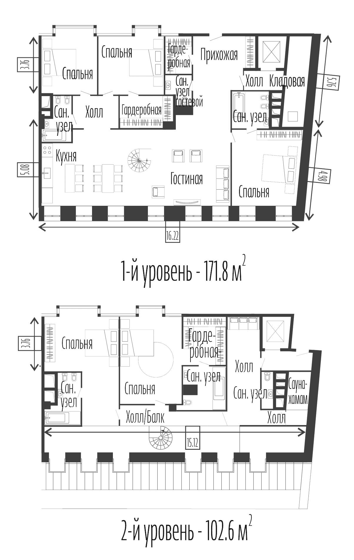 5-к.кв, 274.4 м²