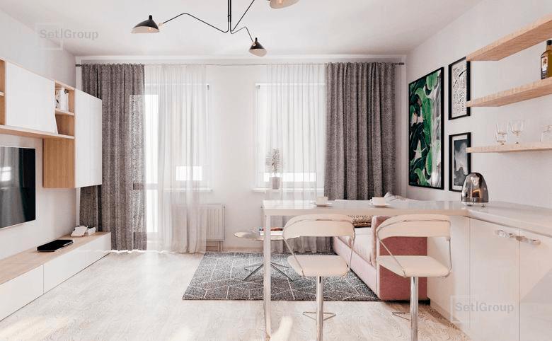 2Е-комнатная квартира, 35.06 м², 4 этаж – 5