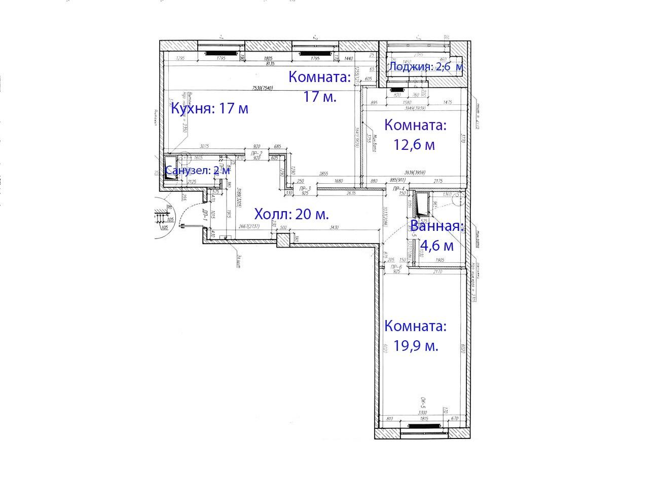 4Е-комнатная, 95.4 м²– 2