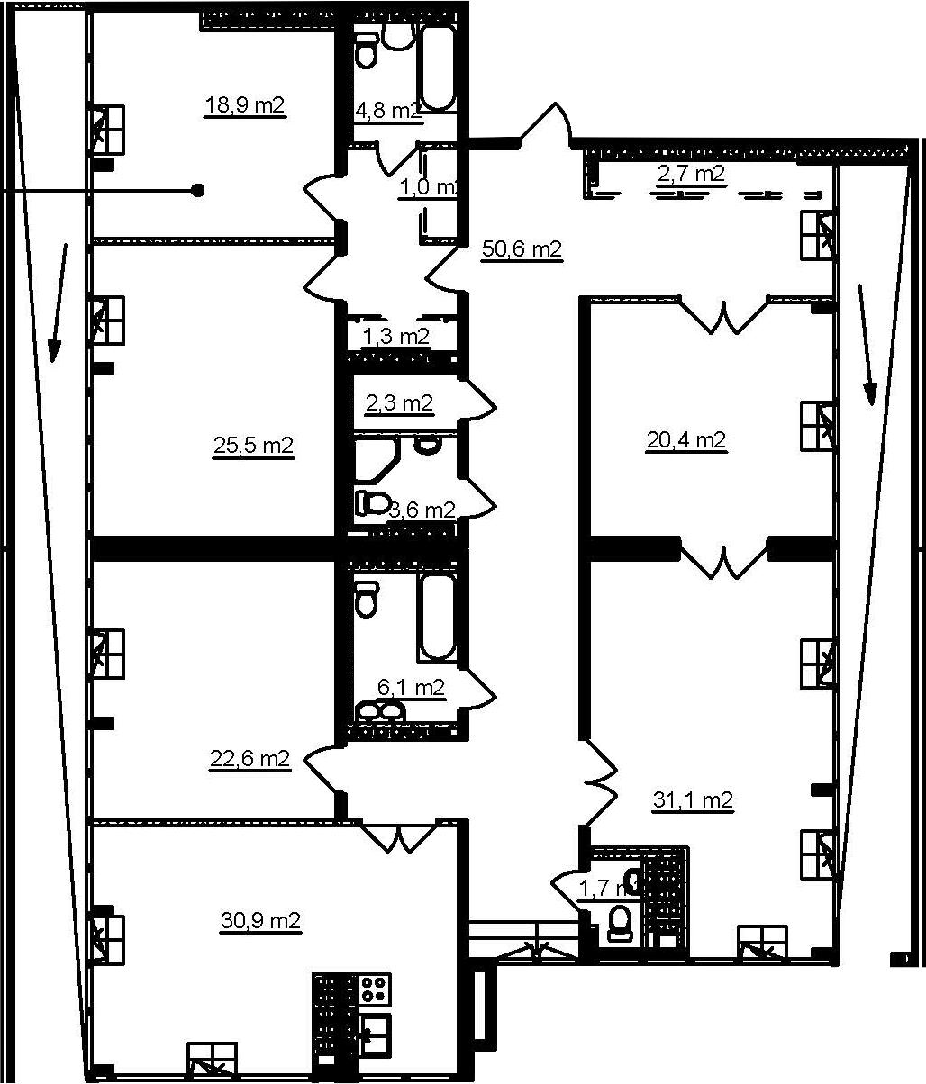 5-комнатная, 222.4 м²– 2