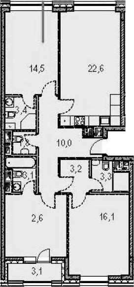 4-к.кв (евро), 96.8 м²