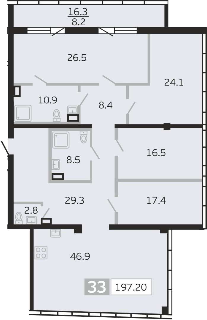 5Е-к.кв, 197.2 м²
