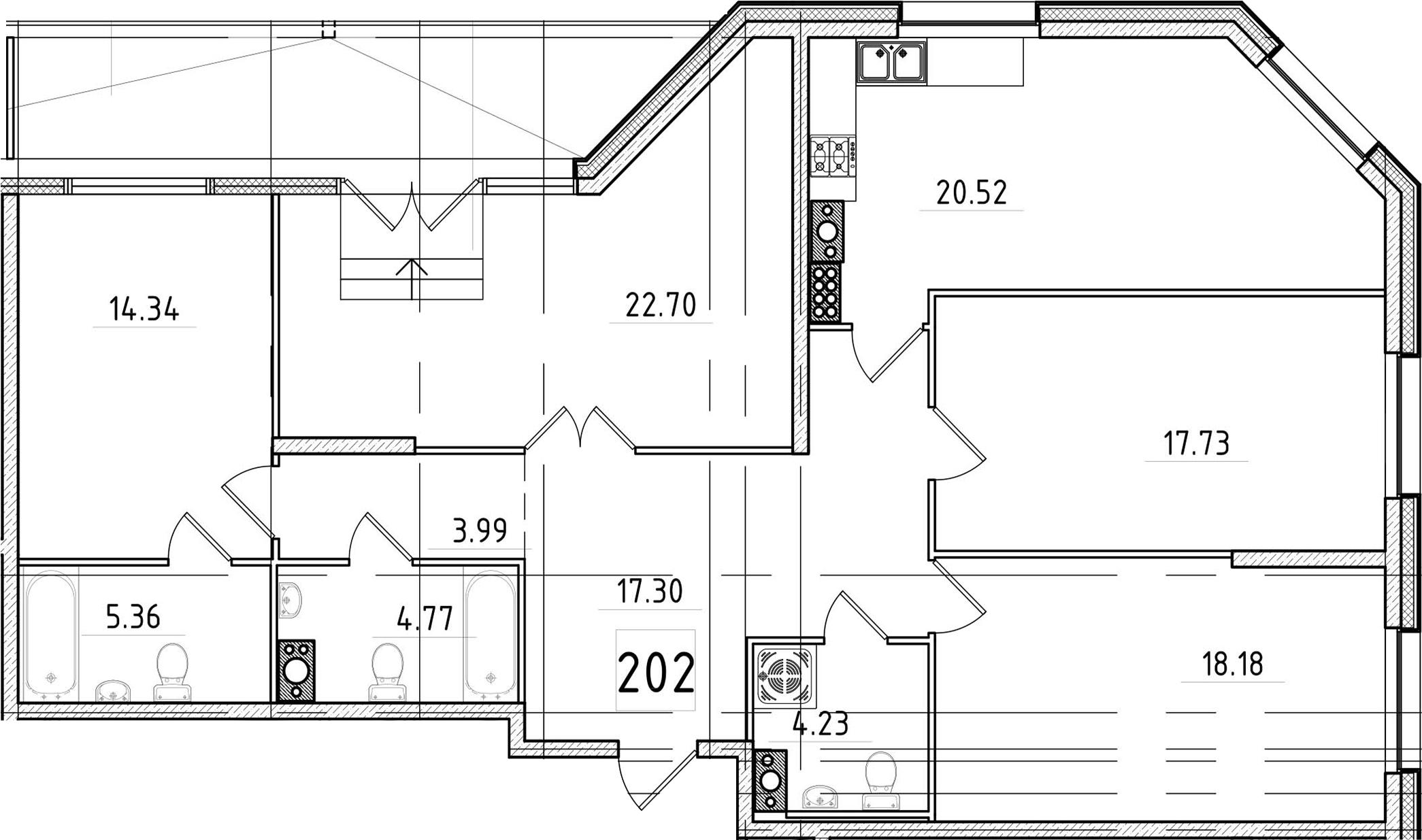 5Е-к.кв, 132.72 м²