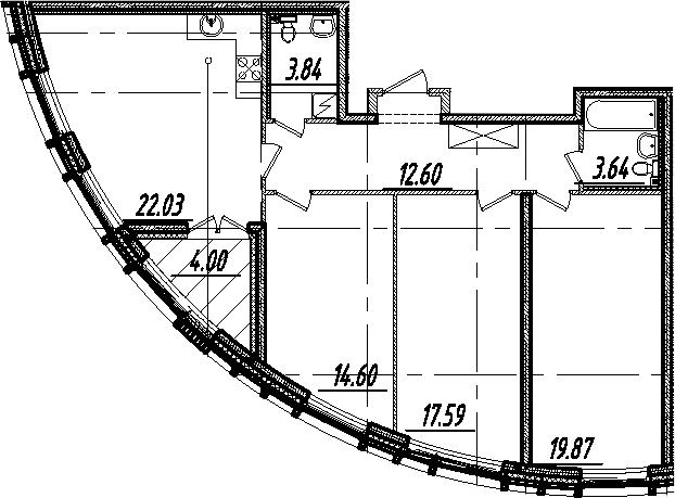 4Е-комнатная, 96.17 м²– 2