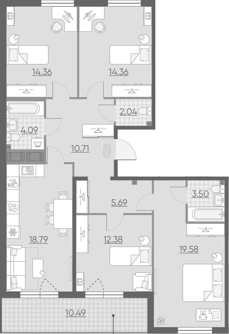 5-к.кв (евро), 115.99 м²