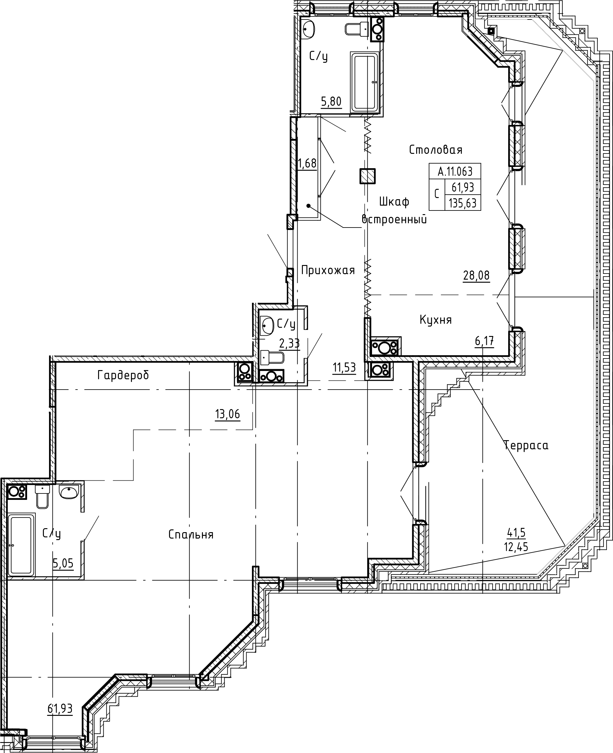 Студия, 148.08 м²