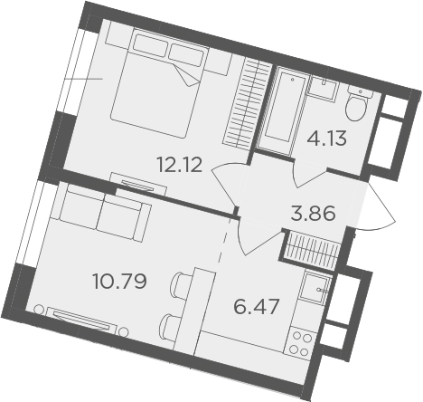 2Е-к.кв, 37.37 м²