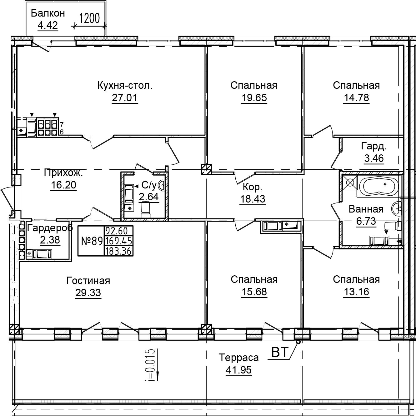 5-к.кв, 215.81 м²