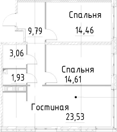 3Е-к.кв, 67.37 м², 16 этаж
