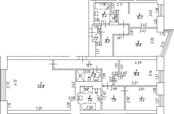 4Е-к.кв, 136.3 м², 8 этаж