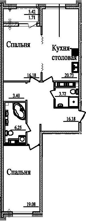 3-к.кв (евро), 88.96 м²