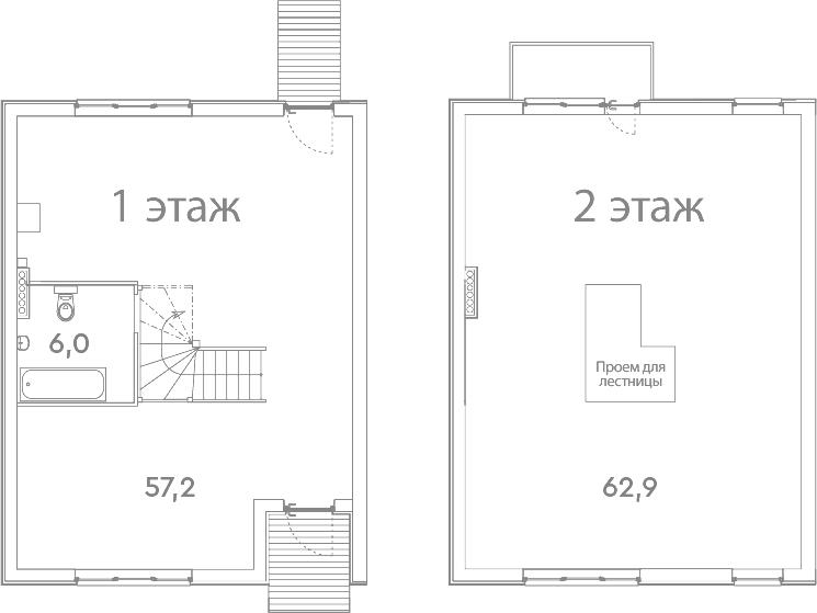 Таунхаус, 127.1 м²– 2