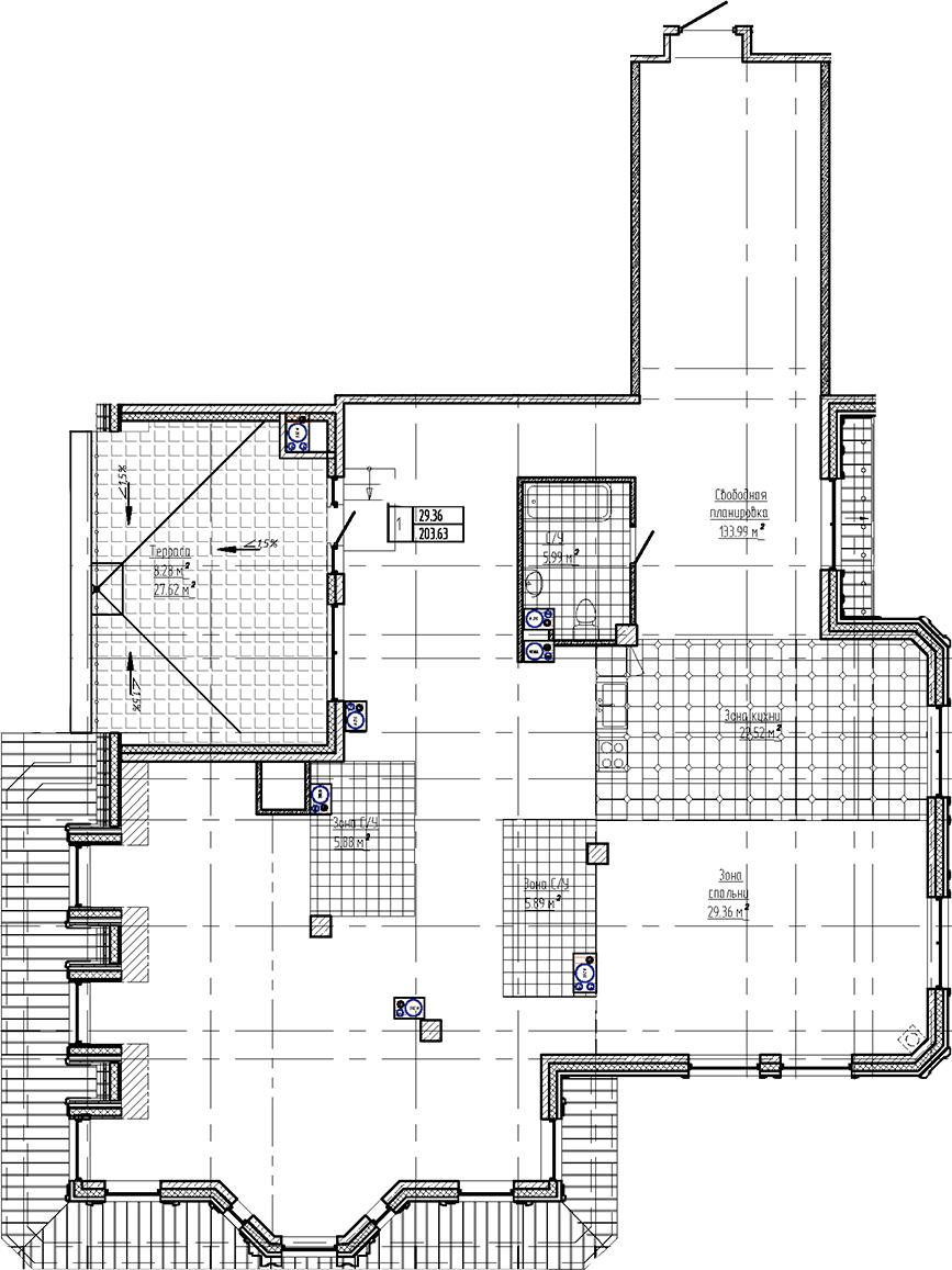 Свободная планировка, 211.92 м²– 2