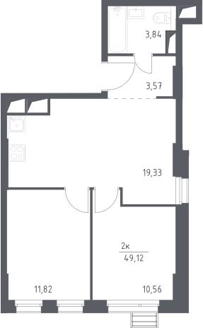 3-к.кв (евро), 49.12 м²