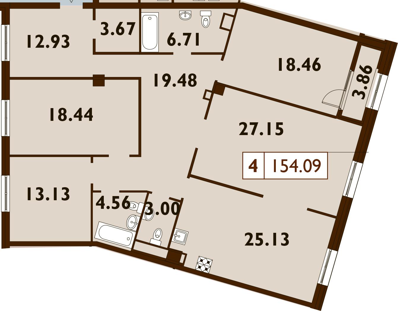 5Е-к.кв, 154.09 м²