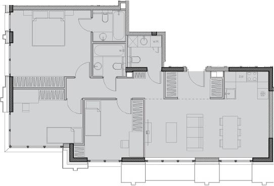 Свободная планировка, 86.4 м²– 2