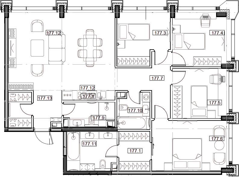 5Е-комнатная, 112.09 м²– 2