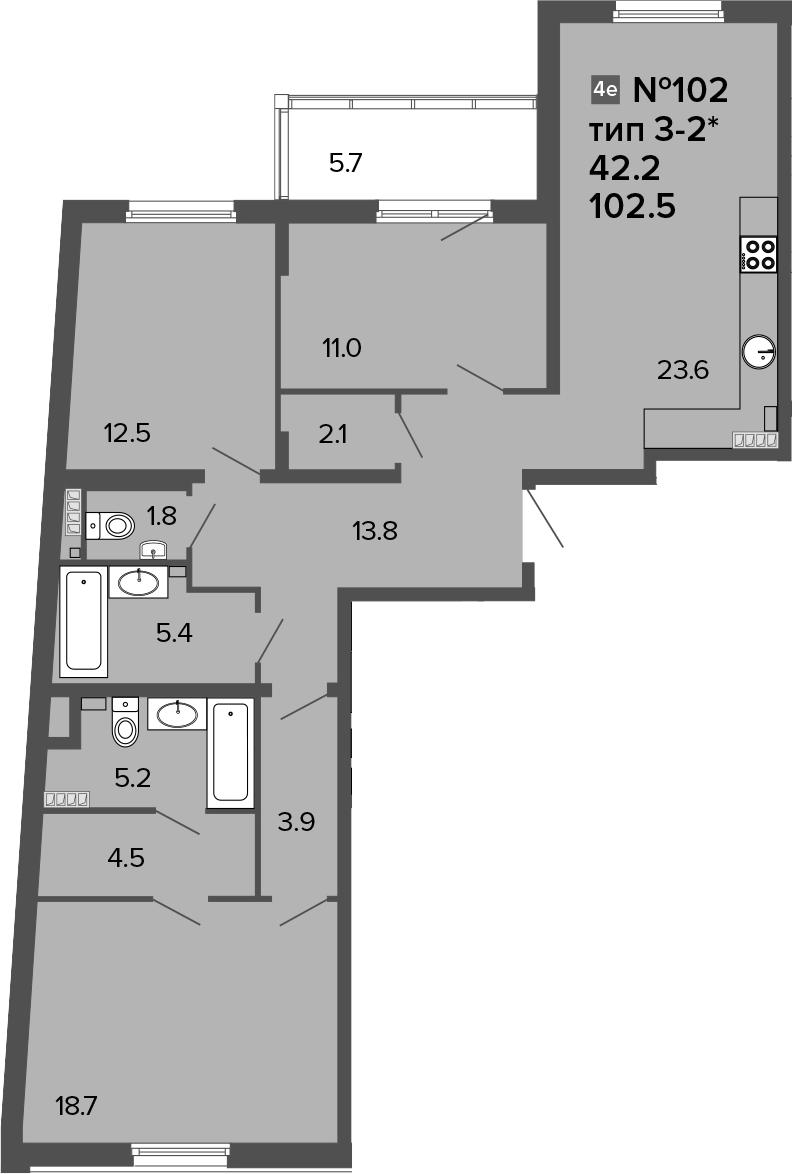 4-к.кв (евро), 108.2 м²